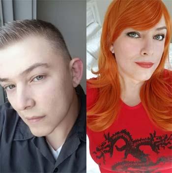 Avant / après d'une trav rousse en transition